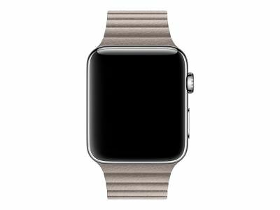 Apple MNKY2AM/A Leather Loop for Watch 42mm Medium Smoke Gray Leather™