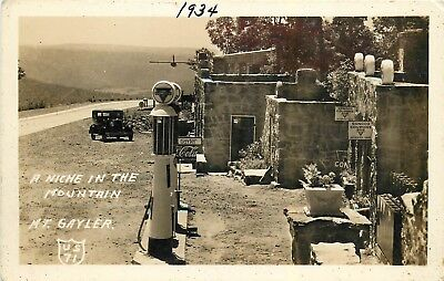 Old Conoco Gasoline Pumps, Gas Station Mt Gayler AK US 71 Real Photo Postcard
