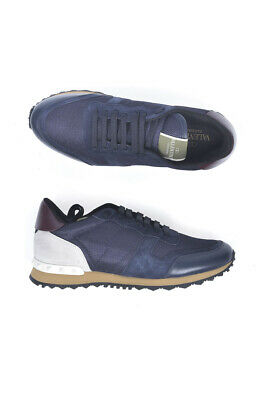 Scarpe Sneaker Valentino Shoes Pelle MADE IN ITALY Uomo Blu NY0S0723TCV H07 b78a6ba30126