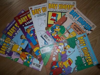 Bart Simpson #32,34,36,38,39,41,42  2006/08 Bongo Comic lot bundle