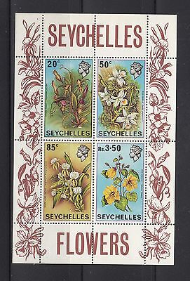 Seychelles 1970 Flowers Sc 283a MS Complete Mint Never Hinged