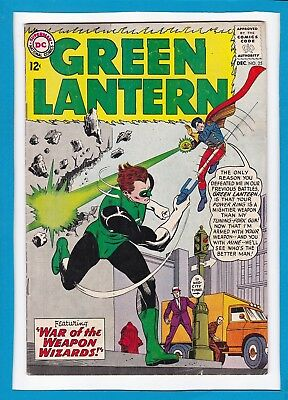 """Green Lantern #25_December 1963_Fine+_""""war Of The Weapon Wizards""""_Silver Age Dc!"""