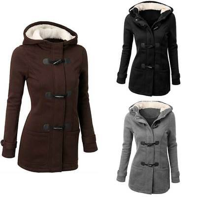 Womens Cotton Jacket Trench Parka Long Overcoat Winter Outwear Long Tops Warm