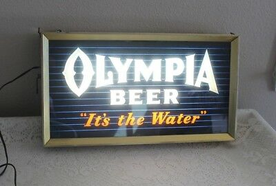 "Vintage Parneon Olympia Beer Lighted Sign ""it's The Water"" (20X11"")"