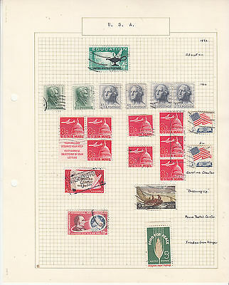 UNITED STATES Coll. On old Album Page to 1962. ..U   Removed for Shipping.
