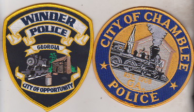 "City of Chamblee & Winder GA Police ""train"" patches"