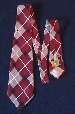 "Vintage ""Golden Shuttle"" McCURRACH Diamonds Wide Tie Necktie FREE SHIPPING"