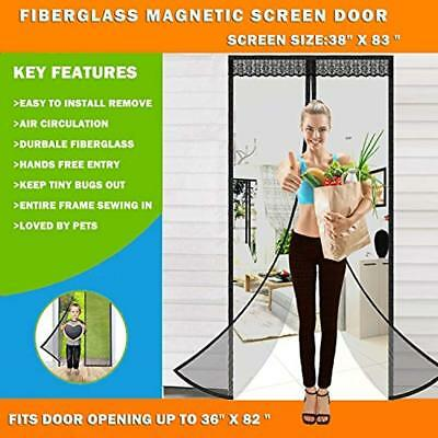 Magnetic Screen Door Easy Install Insect For Fiberglass Pet Friendly Anti Bug