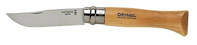 Opinel No 08 Stainless Steel Folding Everyday Carry Locking Pocket Knife with