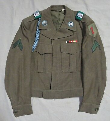 US ARMY WW2 Occupation 1st INFANTRY DIVISION UNIFORM German Made Patches & DUI s
