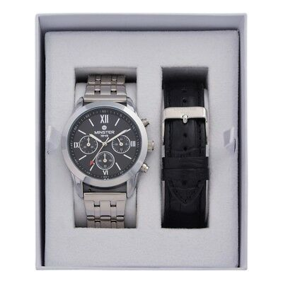 Minster 1949 MN-SET13 Mens Watch and Strap Gift Set
