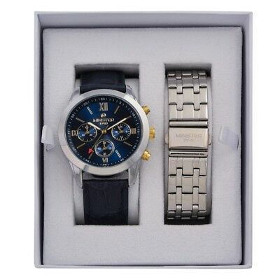 Minster 1949 MN-SET9 Mens Watch and Strap Gift Set