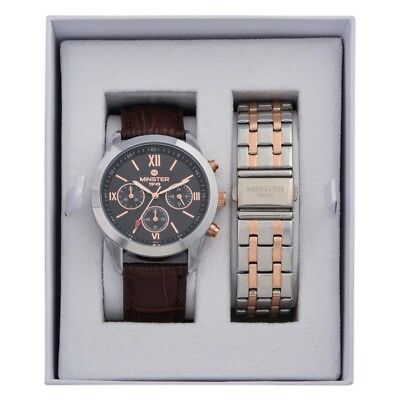 Minster 1949 MN-SET5 Mens Watch and Strap Gift Set