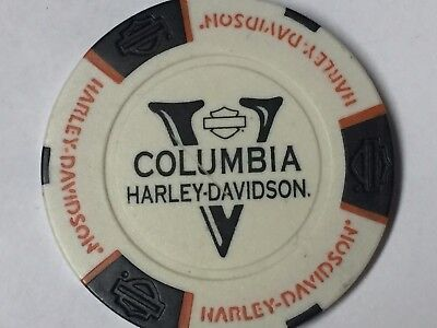 Harley Poker CHIP   COLUMBIA HD   VANCOUVER, WA       WHITE ns
