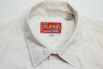 Ely Plains Mens Solid White Long Sleeve Pearl Snap Western Dress Shirt Size 16.5