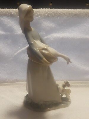 """Lladro Retired Figurine""""Girl with Goose and Dog""""#4866 Collectible"""