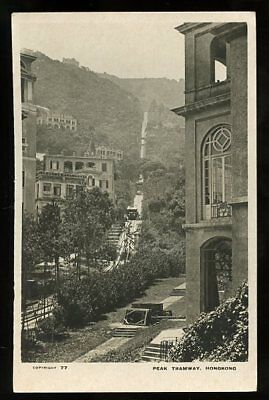c.1930? RPPC #77 by Brewer, view of the Peak Tramway, Hong Kong