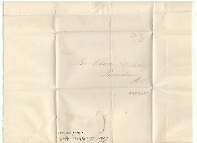 1843 Florida Territorial Stampless Cover, Cds Apalachicola, Ref:  Market