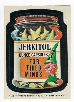 1975 Topps Wacky Packages 15th Series 15 JERKITOL DUNCE CAPSULES nm-