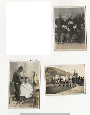 3 Original Wwii Japanese Photos: Army Soldiers, China War!!