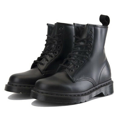 8ad9bf4ab5b BRAND NEW MENS US Size 9 Womens 10 Doc DR MARTENS 1460 MONO Black Leather  Boot