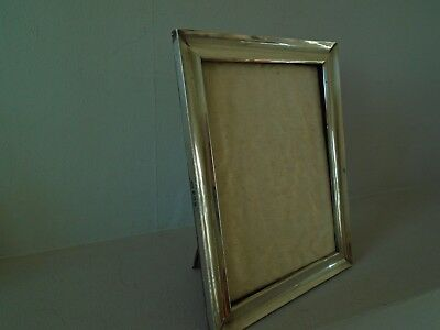 "Very  Beautiful Large 7,5"" X 5.75 Antique 1910 Hallmarked Silver Photo Frame"