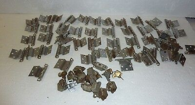 Vintage Lot of 53 Chrome Cabinet Door Hinges  with 14 inside cabinet latches