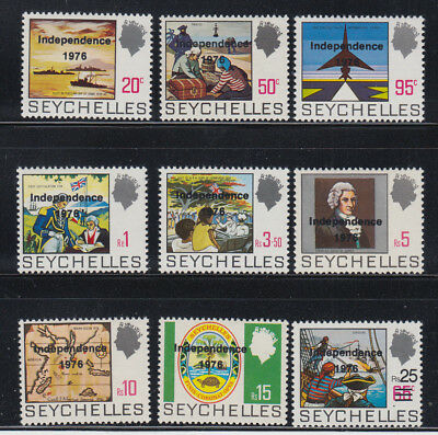 Seychelles 1976 Independence Defs Sc  361-369 cplte   mint very lightly hinged