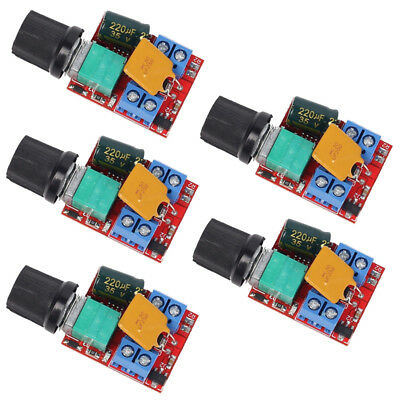 5X Mini DC 5A Motor PWM Speed Controller 3V-35V Speed Control Switch LED Dimmer