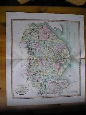 Antique map of Lincolnshire by John Cary dated 1801.