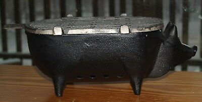 Vintage Cast Iron Pig Hibachi Grill – Never Used – MINT ~ FREE SHIPPING