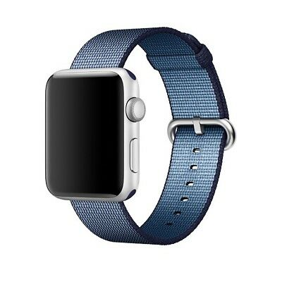 Apple Watch Woven Nylon Band 38mm MidnightBlue Stainless Steel Buckle MPW12AM/A™
