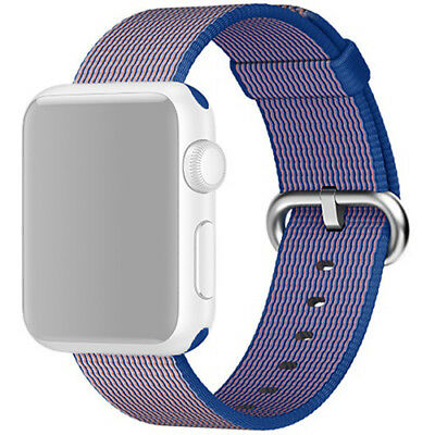 Apple Watch Woven Nylon Band 38mm Royal Blue Steel Buckle MM9N2AM/A™