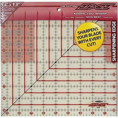 """Sullivans The Cutting Edge Frosted Ruler-9-1/2""""x9-1/2"""""""