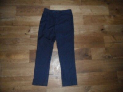 ** BOYS SUIT TROUSERS * GEORGE ** NAVY ** SIZE 7-8 TROUSERS with AJUST/W* VGC *