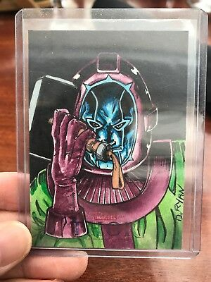 2011 UD Thor Artist Color Sketch Card By Dave Ryan 1/1 Beautiful