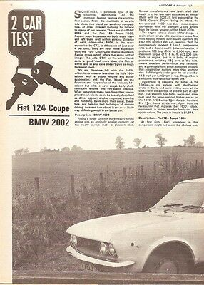Fiat 124 Coupe & BMW 2002 1971 Vintage Group Road Test