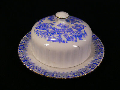 China Blau Butter - Käseglocke