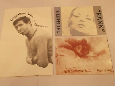 The Smiths Morrissey Post Cards X3 Promo's