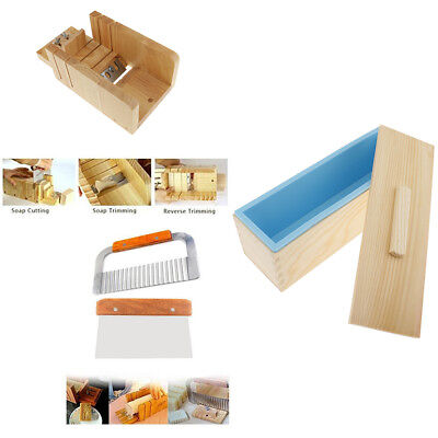 4pcs Wooden Silicone Soap Mold Loaf With Lid Cutter Adjustable Planer Tools