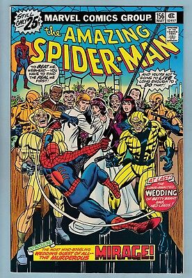 AMAZING SPIDER-MAN # 156 VFN+ (8.5) 1st MIRAGE APPEARANCE - CENTS - WHITE PAGES