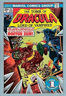 Tomb Of Dracula # 42 Vfn (8.0)  Blade Appearance - Glossy High Grade Cents Copy