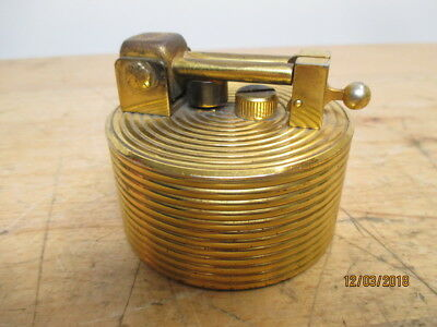 c1950s DUNHILL BRILUX SWISS 22K GOLD LIFT ARM LIGHTER WORKS