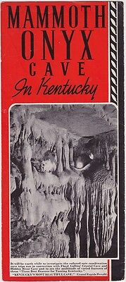 1940's Mammoth Onyx Cave Promotional Brochure