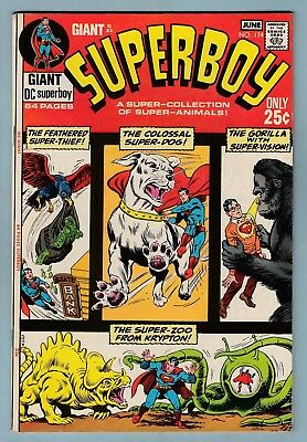 Superboy # 174 Vfn (8.0) Nice Glossy High Grade Unstamped Us Cents Dc Giant G-83
