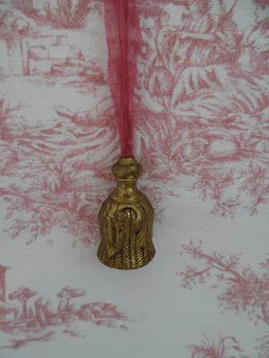 Pair Of Antique French Brass Blind /light/ Curtain Pulls-Tassels