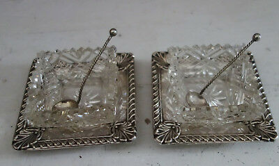 quality silver plate salts and spoons
