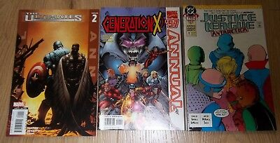 Lot of 3 Marvel & DC Annuals Generation X Justice League Ultimates