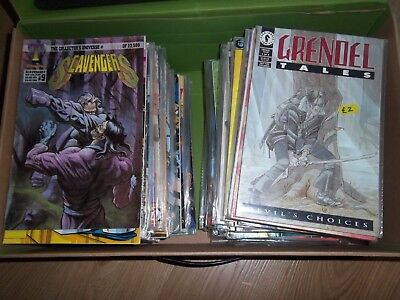 Box of approx 140 Comics Image Valiant image impact pyramid  Huge Lot Bundle