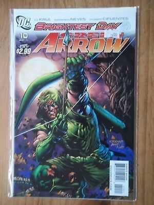 Brightest day Green Arrow #10  2011 DC Comic Kirkham & Batt Variant Cover